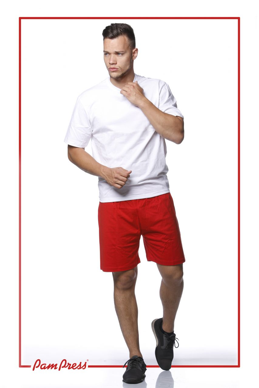Gyermek tornashort (piros) /TSPAM00146/