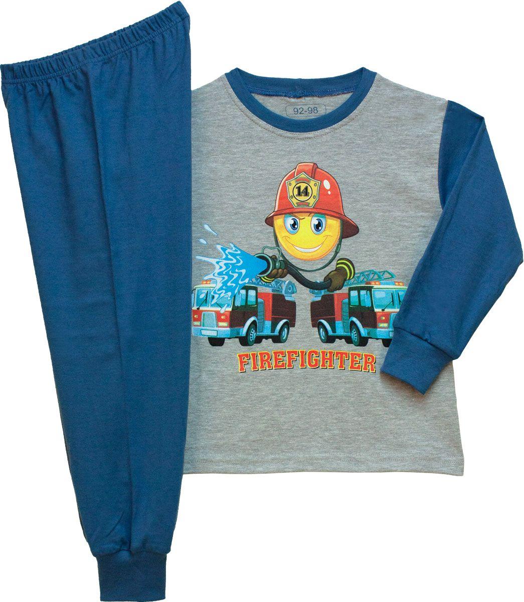 Fiú hosszú ujjú pizsama (tűzoltós) /TPAUT20013/