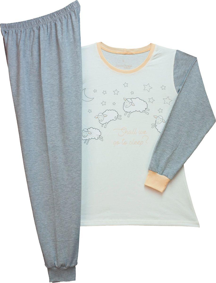 Női hosszú ujjú pizsama (Bárányos) /TPBEE20012/
