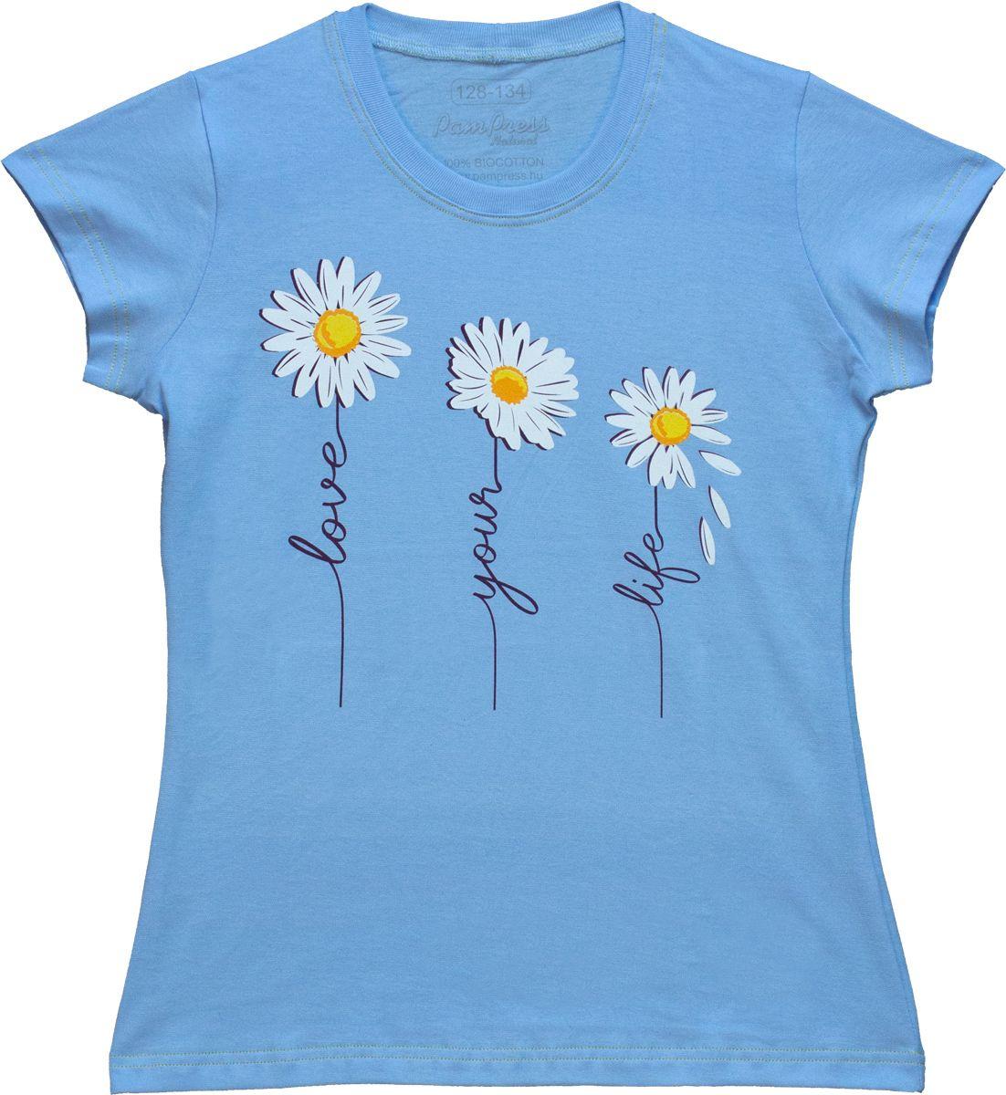 Lány rövid ujjú póló (Margaréta virág) /RPVIR21034/