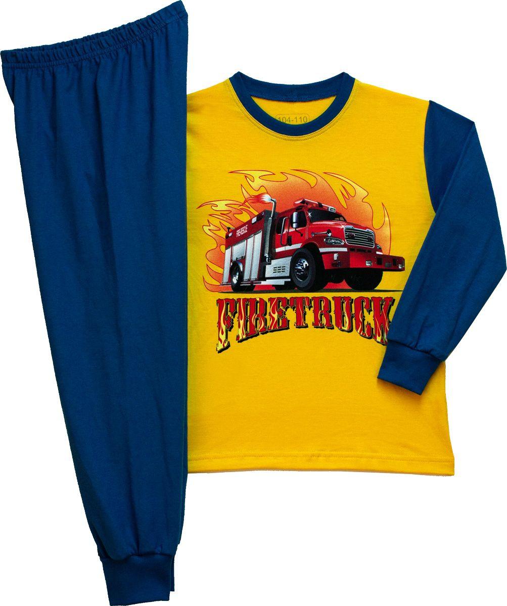 Fiú hosszú ujjú pizsama (Tűzoltós) /TPAUT21013/